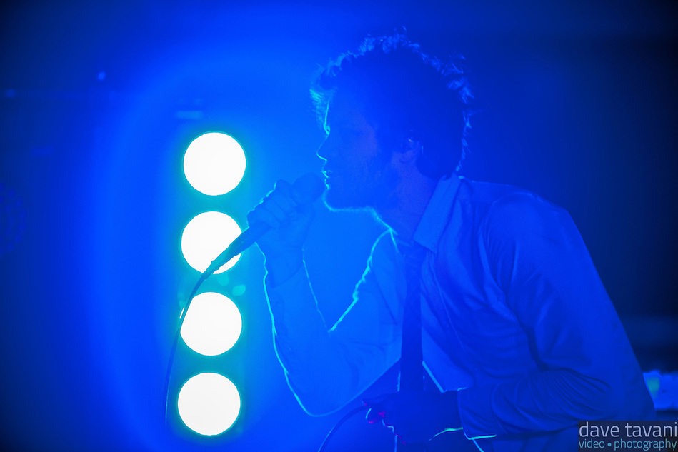 Passion Pit performing at the Electric Factory in Philadelphia, November 29, 2012. (Dave Tavani)