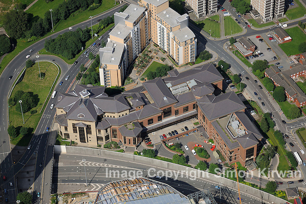 Lloyds Banking Group Offices, Lovell Park Rd, Leeds -  aerial photo by Simon Kirwan
