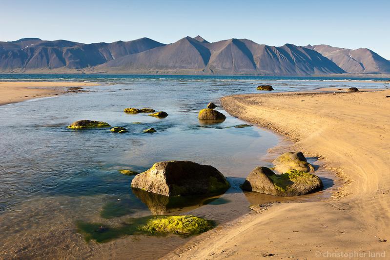 Hvestusandur shore by Fremri - Hvesta. West fiords of Iceland.