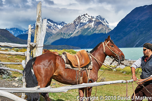 Horse and Gaucho at Estancia Helsingfors in Patagonia. Image taken with a Nikon D3s camera and 24-120 mm f/4 lens (ISO 200, 66 mm, f/5.6, 1/640 sec) (David J Mathre)