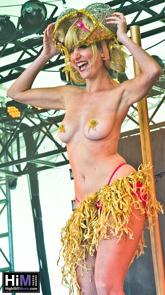 Fleur De Tease at the 2011 Voodoo Festival in New Orleans, LA. (Golden G. Richard III)