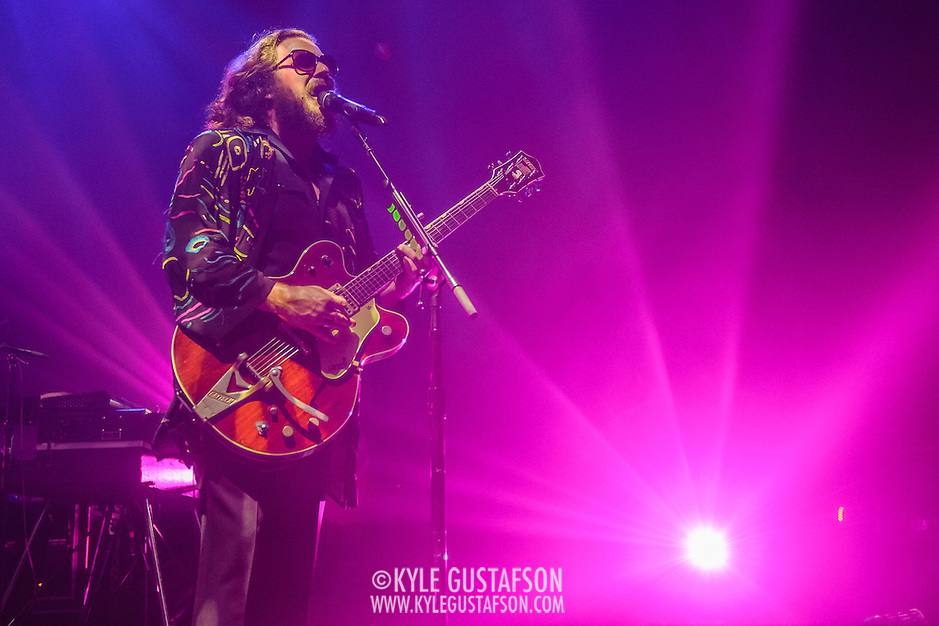 Jim James of My Morning Jacket performs at Merriweather Post Pavilion in Columbia, MD. (Photo by Kyle Gustafson) (Photo by Kyle Gustafson)