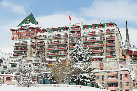 ST.MORITZ, SWITZERLAND - MARCH 06, 2009: Exterior of the Palace hotel in Saint Moritz, Switzerland. (Dmitry Chulov)