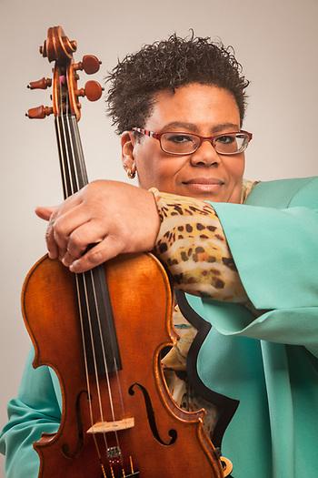 Anchorage Symphony Orchestra's Principal 2nd Violin, Nina Bingham (© Clark James Mishler)