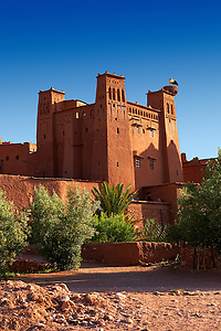 Adobe buildings of the Berber Ksar or fortified village of Ait Benhaddou, Sous-Massa-Dra Morocco (Paul E Williams)