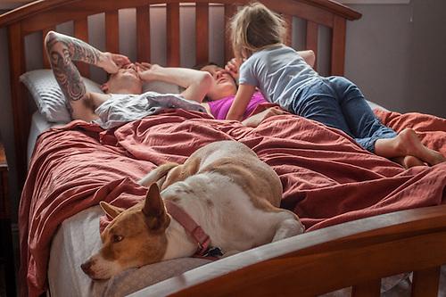 Sunday morning at the home of  the Shuler Family, Martinez, CA (© Clark James Mishler)