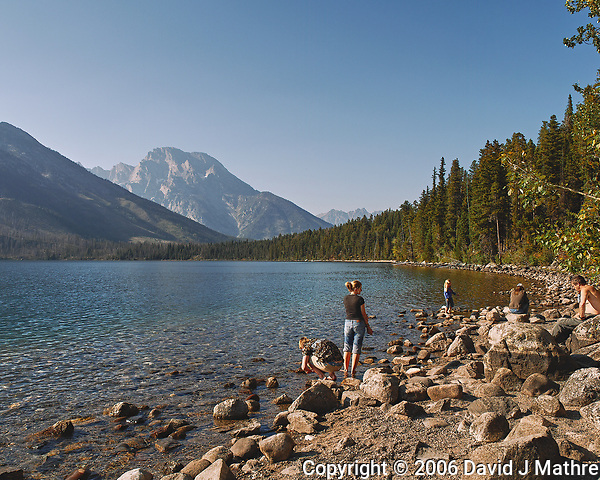 Late Afternoon at Jenny Lake. Image taken with a Nikon D200 camera and 18-75 mm kit lens (ISO 100, 18 mm, f/7.1, 1/200 sec). (David J Mathre)