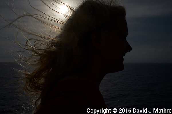 Sunrise Breakfast Club. Silhouette sunrise portrait. MV World Odyssey At Sea. Image taken with a Fuji X-T1 camera and 23 mm f/1.4 lens (ISO 200, 23 mm, f/10, 1/4000 sec) (David J Mathre)