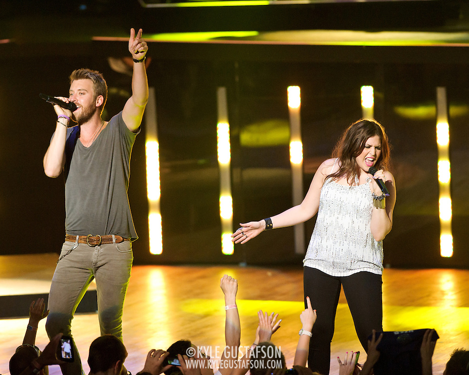COLUMBIA, MD -  May 20th, 2012 - Charles Kelley and Hillary Scott of the Grammy Award-winning group Lady Antebellum perform to a packed house at Merriweather Post Pavilion in COlumbia, MD.  The group's last album, We Own The Night, reached #1 on the US Billboard 200. (Photo by Kyle Gustafson/For The Washington Post) (Kyle Gustafson/For The Washington Post)