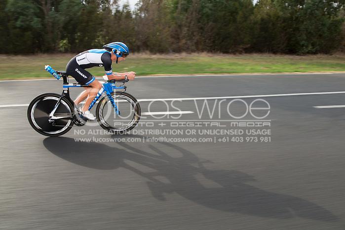 Peter Robertson (AUS), March 23, 2014 - Ironman Triathlon : Bike Course. Ironman Melbourne Race, Bike Cycle Course Between Frankston And Ringwood Tunnel, Melbourne, Victoria, Australia. Credit: Lucas Wroe (Lucas Wroe)