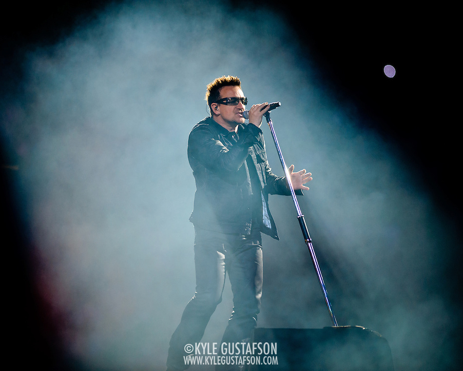 BALTIMORE, MD - June 22nd, 2011 - U2 perform at M&T Stadium in Baltimore, MD as part of the second leg of their 360 tour. (Photo by Kyle Gustafson) (Photo by Kyle Gustafson)