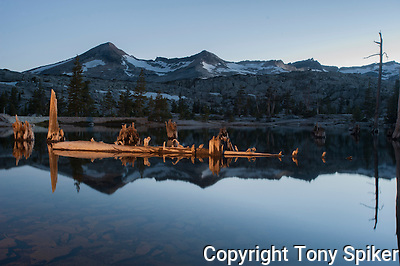 &quot;Lake Aloha Night Reflections 2&quot; - Photograph of Lake Aloha, located in Desolation Wilderness near the South Shore of Lake Tahoe (Tony Spiker)