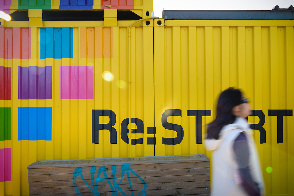 Shipping containers at Re:start Mall in Christchurch (Mark Eden)