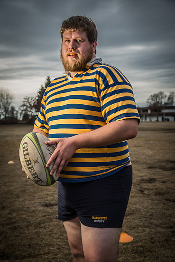 Civil engineer and rugby player, Ian McPherson, Delaney Park Strip, Anchorage (Clark James Mishler)