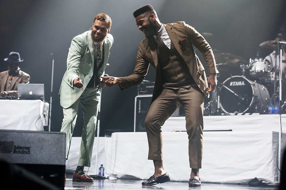 Photos of Jidenna performing live at Madison Square Garden, NYC. October 1, 2015. Copyright © Matthew Eisman. All Rights Reserved (Matthew Eisman/Photo by Matthew Eisman)