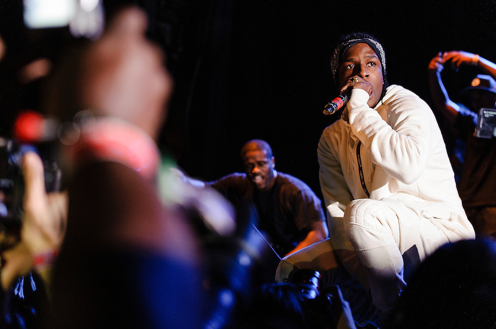 Photos of rapper A$AP Rocky performing at Catalpa Music Festival on Randall's Island, NYC. July 29, 2012. Copyright © 2012 Matthew Eisman. All Rights Reserved. (Photo by Matthew Eisman/ Getty Images)