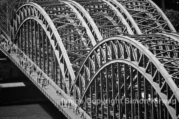 Hohenzollernbrücke Köln Hohenzollern Bridge Cologne Germany - photo by Simon Kirwan