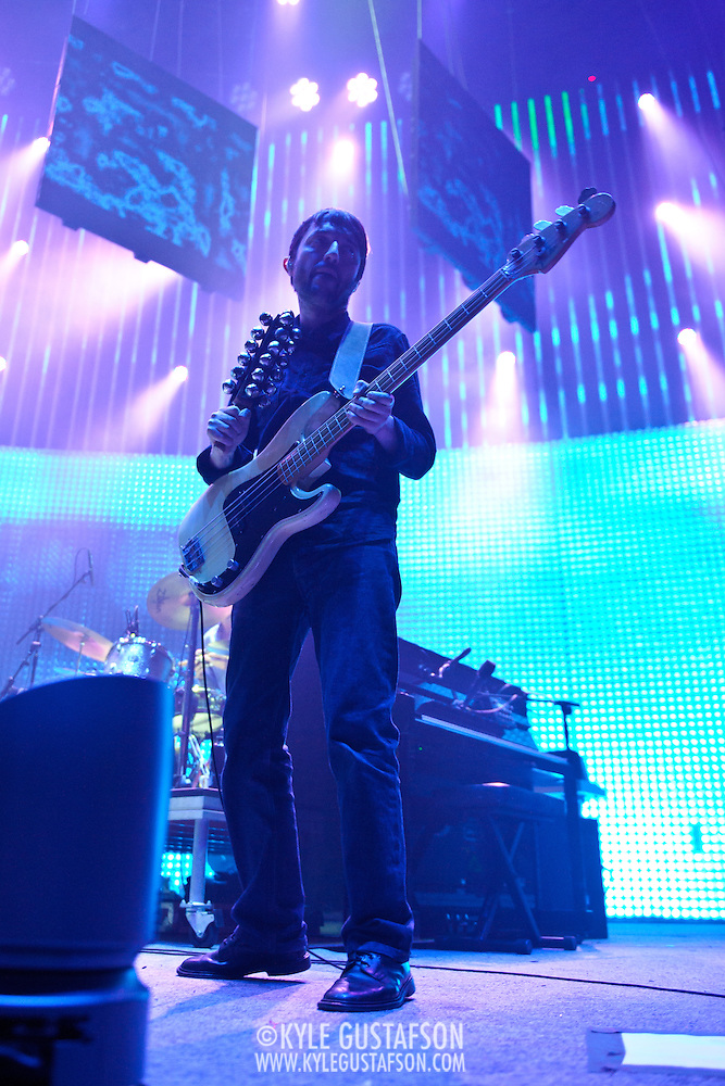 WASHINGTON, DC - June 3rd, 2012 - Colin Greenwood of Radiohead performs at the Verizon Center in Washington, D.C.  It was the first time the band performed in the metro-D.C. area since their infamous show in the rain at Nissan Pavilion in 2008. (Photo by Kyle Gustafson/For The Washington Post) (Kyle Gustafson/For The Washington Post)