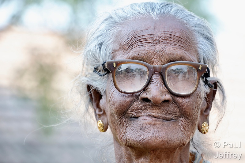 An old woman in Natham, a small town in the southern India state of Tamil Nadu. (Paul Jeffrey)