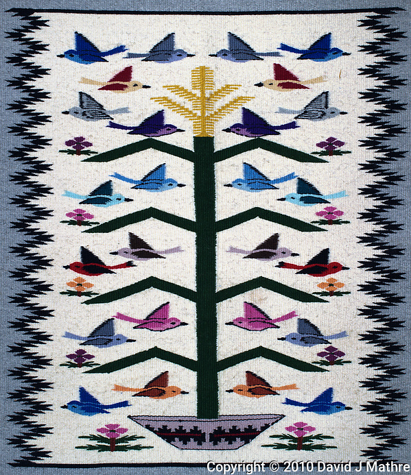 """Navajo """"Tree of Life"""" Hand Woven Rug. Image taken with a Nikon D3s camera and 50 mm lens (ISO 200, 50 mm, f/5.6, 1/15 sec). Raw image processed with Capture One Pro and Photoshop CC. (David J Mathre)"""