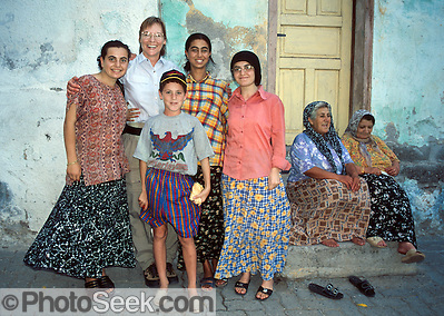 Meeting a friendly Turkish family in Amasya, Central Turkey.