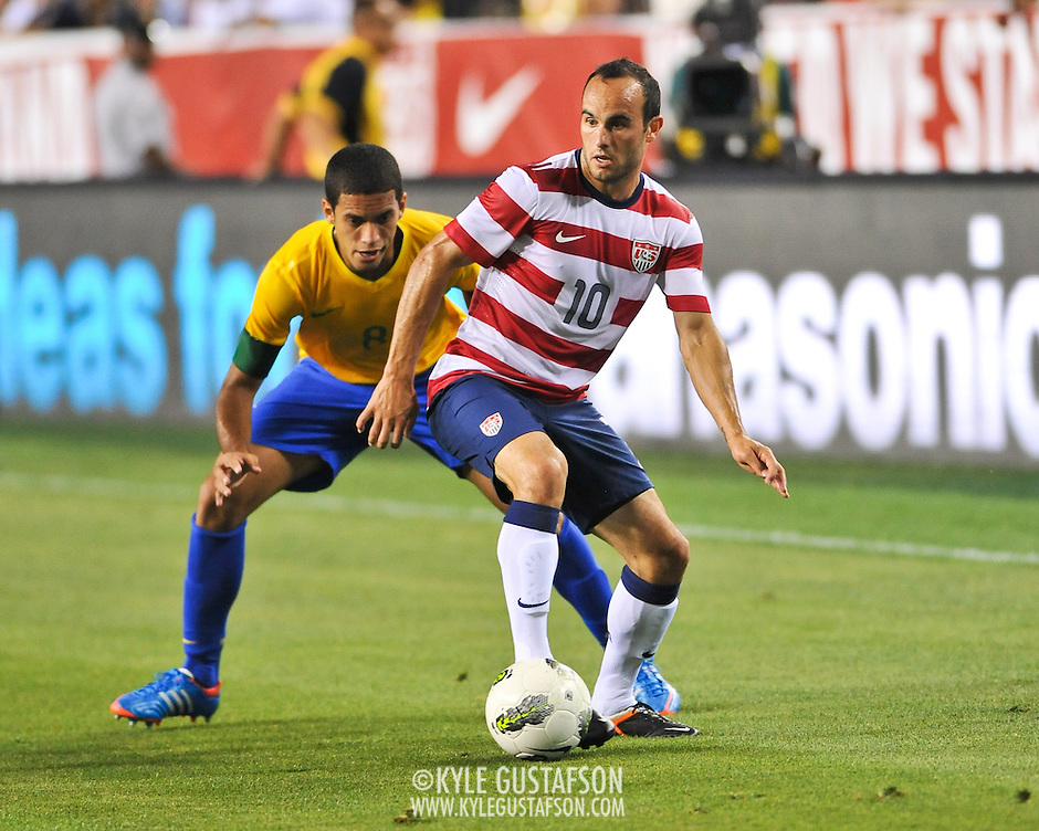 LANDOVER, MD - May 30th, 2012 - The US Men's National Soccer Team faces off against world power Brazil in a friendly at FedEx Field in Landover, MD. Brazil would go on to win 3-1. (Photo by Kyle Gustafson) (Photo by Kyle Gustafson)