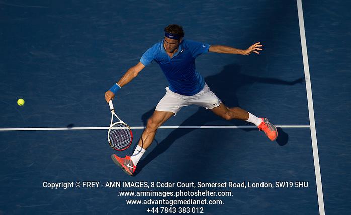 Roger Federer Tennis - US Open  - Grand Slam -  Flushing Meadows  2013 -  New York - USA - United States of America - Tuesday 27th August 2013.  © AMN Images, 8 Cedar Court, Somerset Road, London, SW19 5HU Tel - +44 7843383012 mfrey@advantagemedianet.com www.amnimages.photoshelter.com www.advantagemedianet.com www.tennishead.net (FREY - AMN IMAGES)