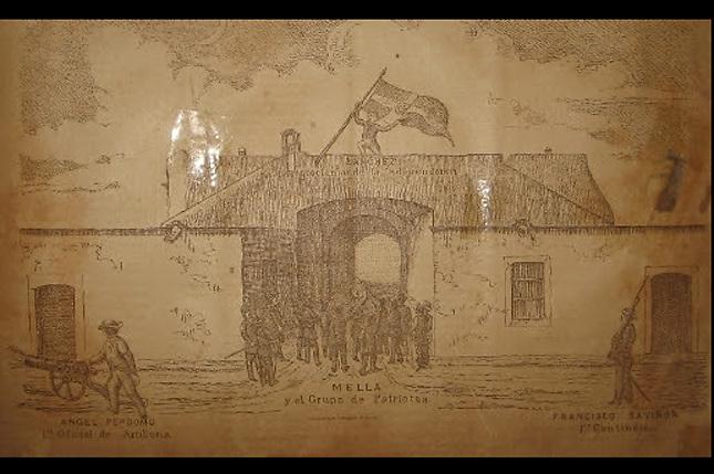 La Puerta del Conde en 1844 de acuerdo a un testimonio de 1890