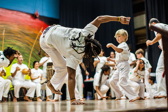 The first Festa da Capoeira 2013 at Melrose Leadership Academy of Oakland occured on Saturday, December 14 2013. Capoeristas received or exchanged new belts and medals. (bryan farley)