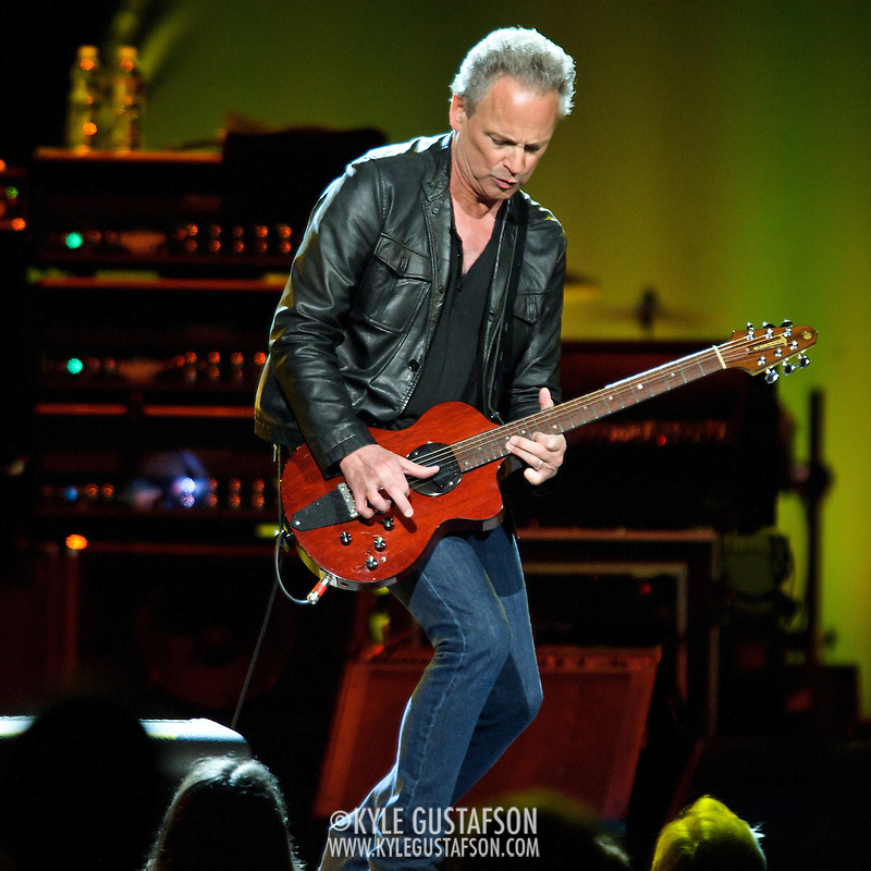 "WASHINGTON, DC - April 9th  2013 -  Lindsey Buckingham of Fleetwood Mac performs at the Verizon Center in Washington, D.C. during the band's 2013 World Tour. Fleetwood Mac, touring for the first time since 2009, is including two new songs in their setlist, ""Sad Angel"" and ""Without You."" (Photo by Kyle Gustafson/For The Washington Post) (Kyle Gustafson/For The Washington Post)"