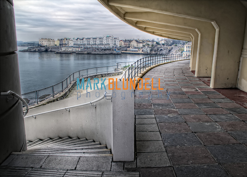 The curves of Plymouth Lido looking out towards the commercial port. (Mark Blundell)