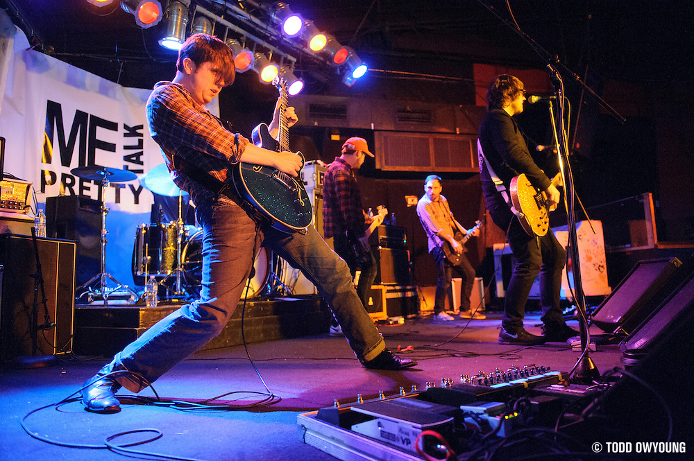 Hawthorne Heights performing in support of Me Talk Pretty at Pop's in Sauget, IL on February 6, 2012. (TODD OWYOUNG)