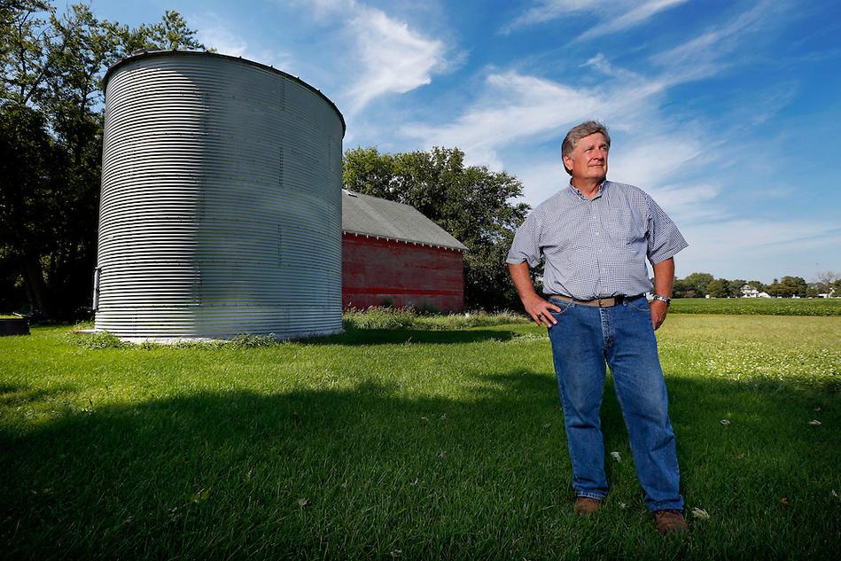 Farmer Dean Lemke on his farm near Dows. (Photo by Christopher Gannon/Iowa State University) (Christopher Gannon)