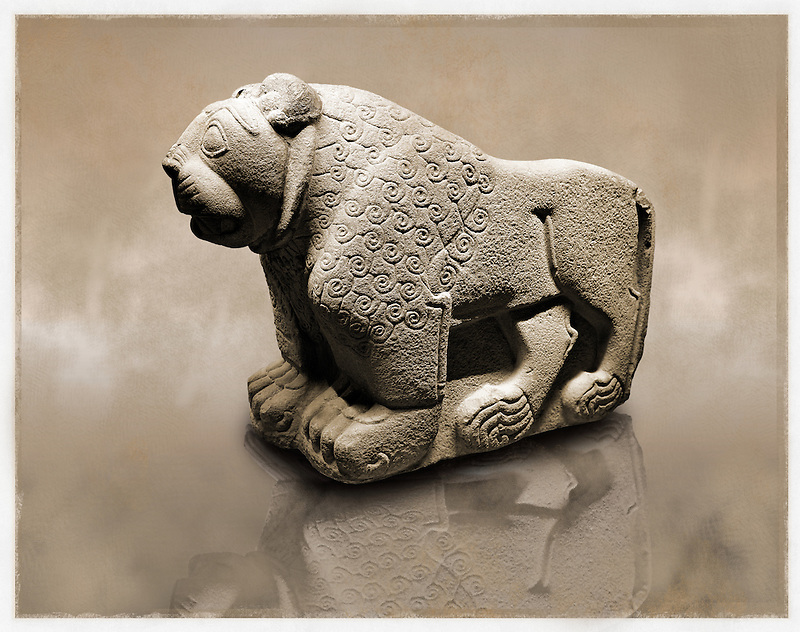 Picture & image of a Hittite Sculpture of a Lion Fron the Gate To Aslantepe, Malatya Province Turkey. Ancora Archaeological Museum. 3 (Paul E Williams)