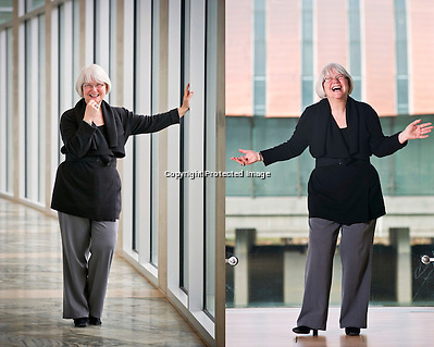 Editorial photography of Sandy Edwards, director of museum relations for Crystal Bridges Museum of American Art. (Beth Hall)