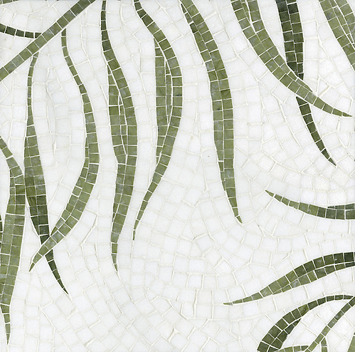 Name: Palm Style: Organic Product Number: CB1008 Description: Palm in Thassos, Chartreuse (p) (New Ravenna Mosaics)