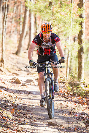 Portrait of Chuck Maxwell with OORC (Ozark Off Road Cyclists) at Mount Kessler in Fayetteville, Arkansas. Photo by Beth Hall (Beth Hall)