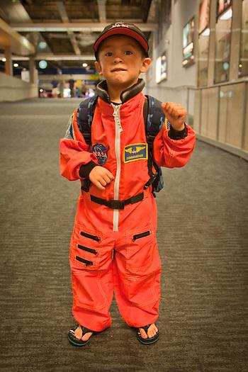 Future astronaunt, Jarrett, Oakland Airport (Clark James Mishler)