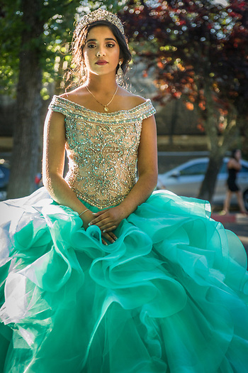 Princess Victoria Montanez takes a moment away from her family and friends during her June 10 celecbration in Calistoga (Clark James Mishler)