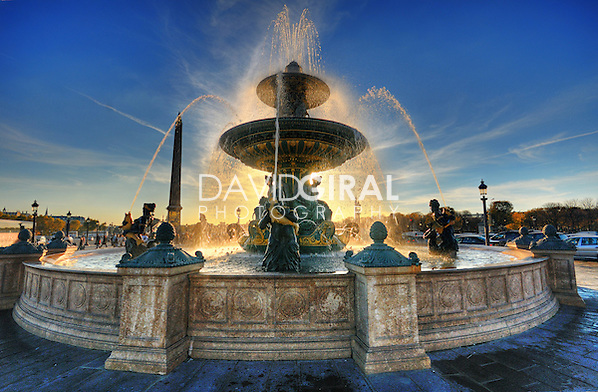 Sunset on Place de la Concorde Fountain, Paris, France (David Giral/David Giral Photography)