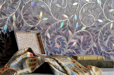 Jacqueline Vine shown in Amethyst glass. (New Ravenna Mosaics)