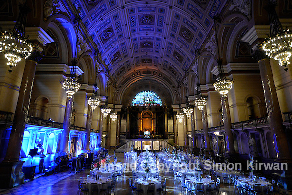 St George's Hall Liverpool Evening Event Set-Up  - Photo By Simon Kirwan