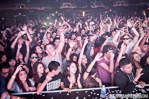  Boys Noize concert fans @ Music Box Hollywood (Justin Gill)