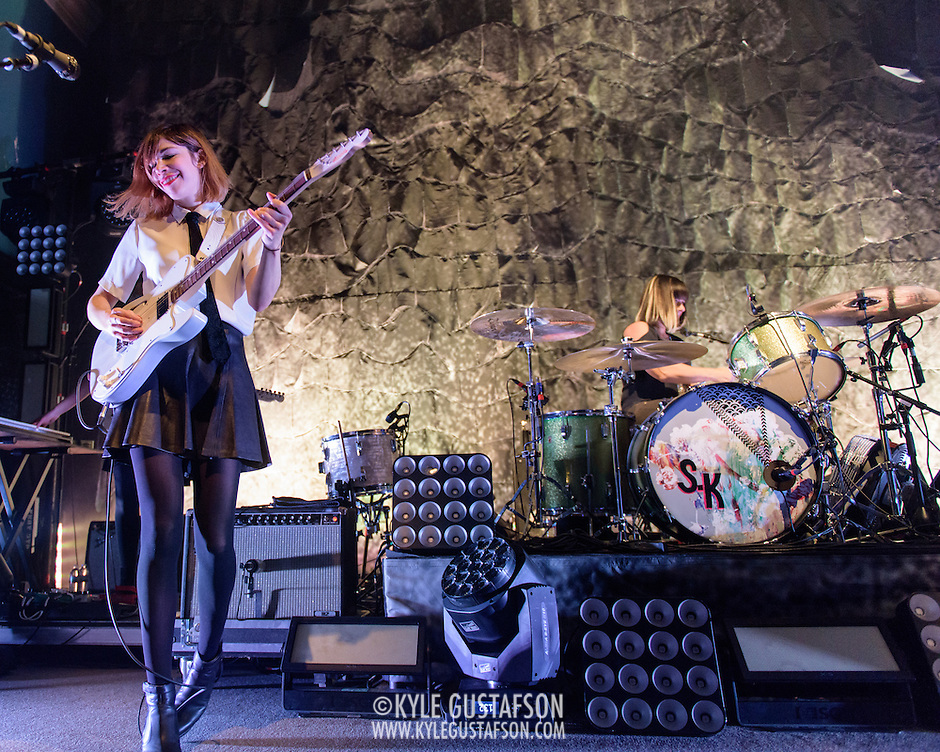 WASHINGTON, DC - February 24, 2015 - Carrie Brownstein and Janet Weiss of Sleater-Kinney perform during the first of two sold-out shows at the 9:30 Club in Washington, D.C. The band, on hiatus since 2006, reunited late in 2014 and recently released No Cities to Love, their first album in almost 10 years. (Photo by Kyle Gustafson / For The Washington Post) (Kyle Gustafson/For The Washington Post)