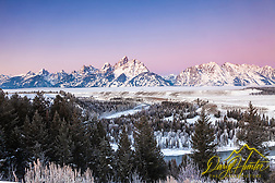 Winter sunrise at the Snake River Overlook in Grand Teton National Park. A crisp -8 degree morning made this morning glow. (© Daryl L. Hunter - The Hole Picture/Daryl L. Hunter)