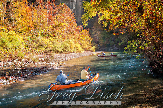Canoeing the Buffalo National River in Arkansas. (Greg Disch gdisch@gregdisch.com)