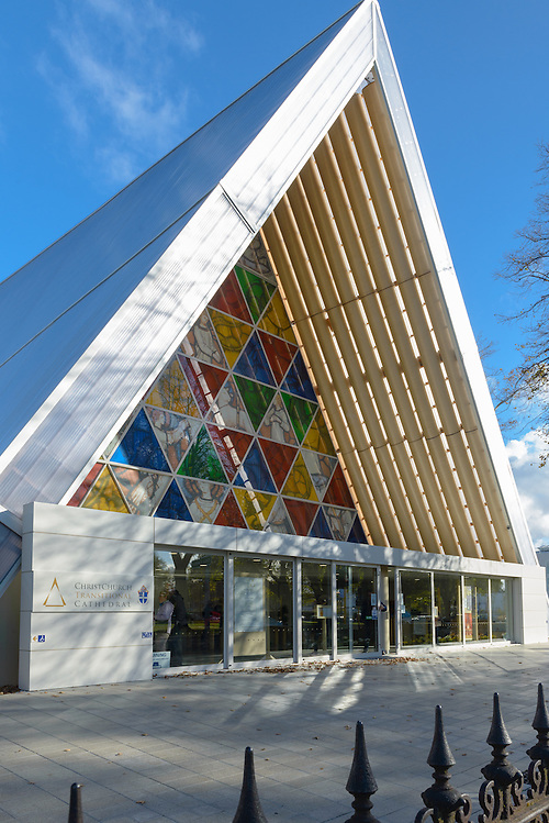 Exterior of Cardboard Cathedral, Christchurch (Mark Eden)