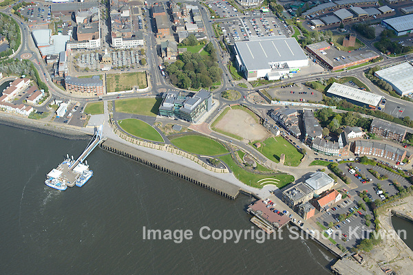 Harton Quays Park, South Shields from the Air - Aerial Photo By Simon Kirwan www.the-lightbox.com