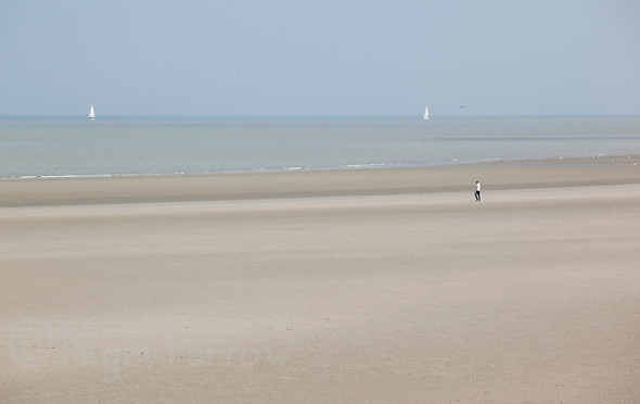 21 MAY 2011 - DUNKERQUE, FRA - The beach at Dunkerque (Dunkirk) (PHOTO (C) NIGEL FARROW) (NIGEL FARROW/(C) 2011 NIGEL FARROW)