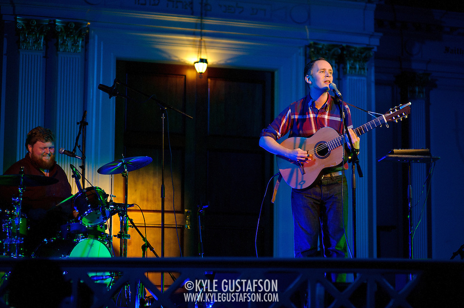 WASHINGTON, DC - October 5th, 2011 - Swedish singer-songwriter Jens Lekman performs at 6th & I Synagogue in Washington, D.C. Lekman released his newest EP, An Argument With Myself, in September.  (Photo by Kyle Gustafson/For The Washington Post). (Kyle Gustafson/FTWP)